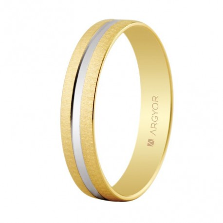 Verigheta bicolora din aur de 14k 5241474R