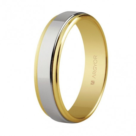 Verigheta bicolora din aur 14k 5250158