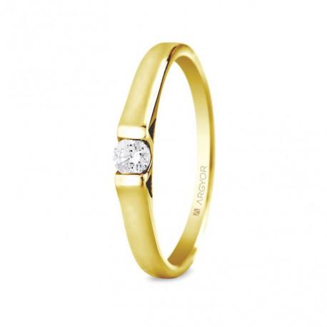 Inel de logodna diamant 0.10ct 14k 74A0032