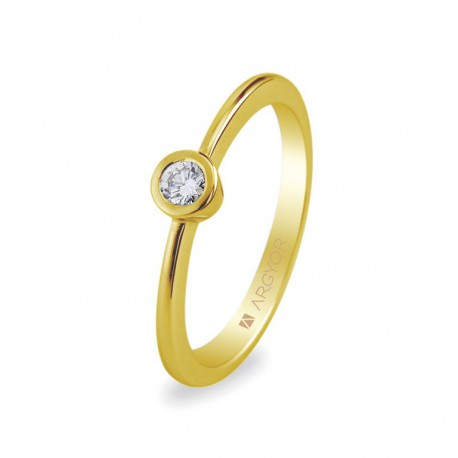 Inel de logodna diamant 0.10 ct 14k 74A0006