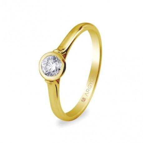 Inel de logodna diamant 0.30 ct 14k 74A0022