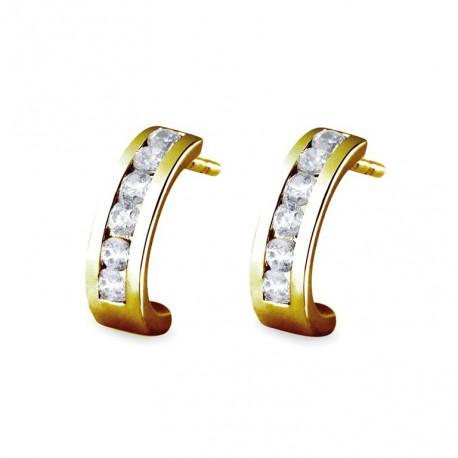 Cercei din aur 14k si diamante 75A0012