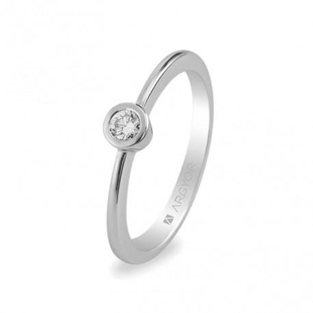 Inel de logodna diamant 0.10 ct 14k 74B0006
