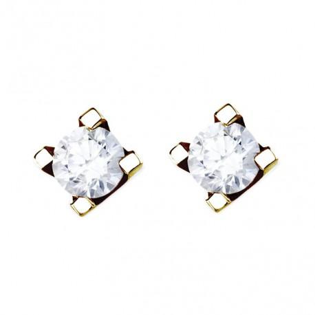 Cercei cu diamante cu 4 gheare 14k 75A0009