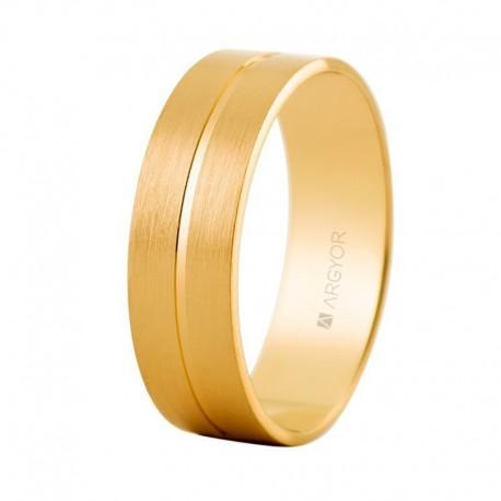 Verigheta din aur galben satinat 5160494