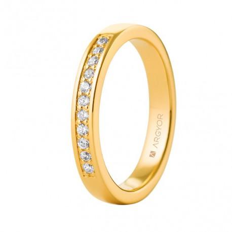 Inel de logodna din aur 18k si 0,17ct cu 11 diamante 74A0056