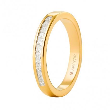Inel de logodna din aur 18k si 0,44ct cu 11 diamante 74A0052