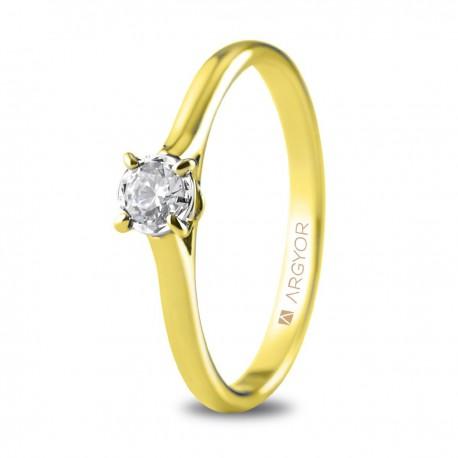 Inel de logodna din aur de 18k cu un diamant 0,20ct 74A0505