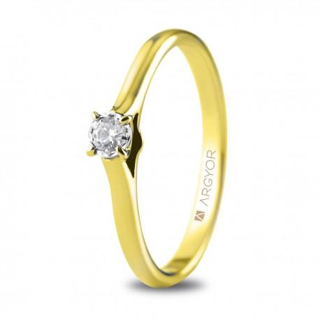 Inel de logodna din aur de 18k cu un diamant 0,08ct 74A0503