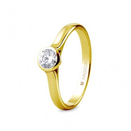 Inel de logodna din aur de 18k cu un diamant 0,34ct 74A0043