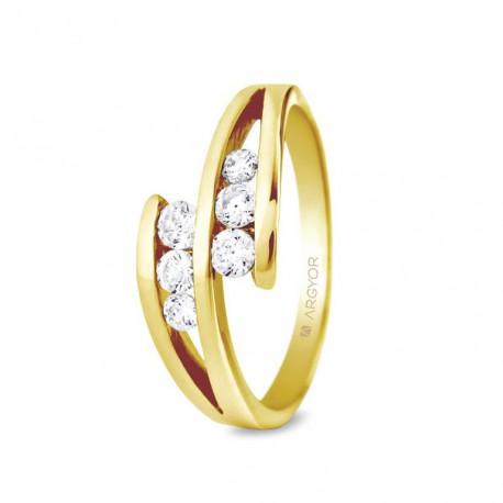 Inel de logodna din aur 18k cu 0.352ct si 6 diamante 74A0036