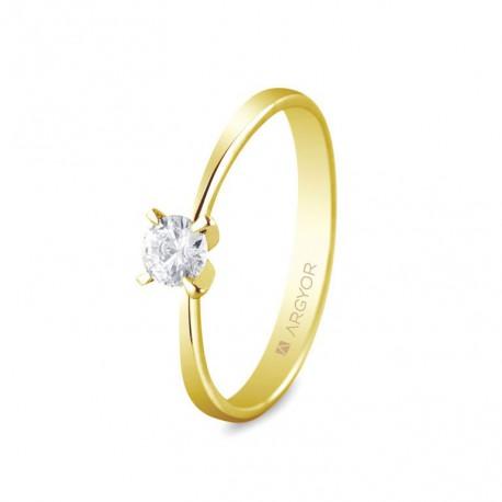 Inel de logodna 1 diamant taietura stralucitoare 0.25ct 74A0030