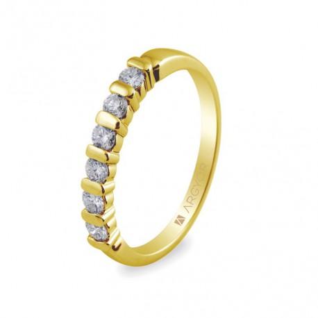 Inel de logodna 6 diamante taietura stralucitoare 0.39ct 74A0021