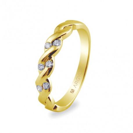 Inel de logodna 6 diamante taietura stralucitoare 0.21ct 74A0020
