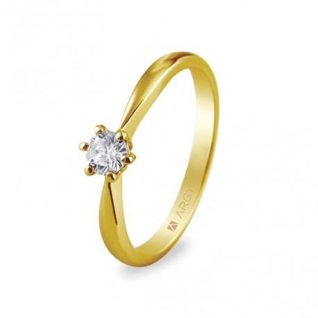 Inel de logodna cu 1 diamant briliant 0.25ct 74A0016
