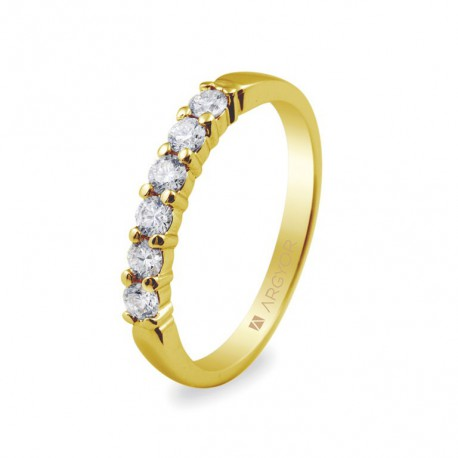 Inel de logodna 6 diamante briliant 0.39ct 74A0015