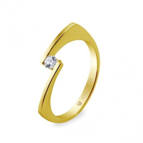 Inel de logodna 1 diamant taietura briliant 0.10ct 74A0014