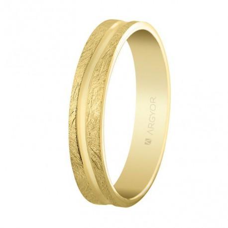 Verighete din aur de 4 mm finisaj gheata 18k 5140511