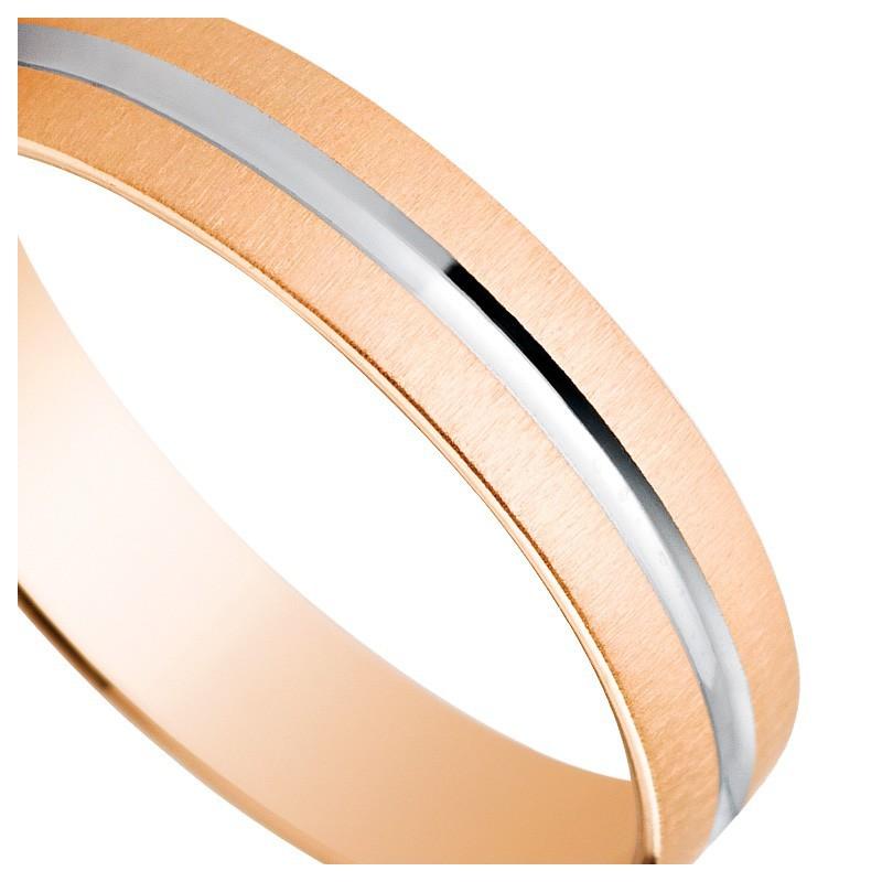 Verighete Din Aur Roz Bicolor 4mm 18k 5c41474r Argyor