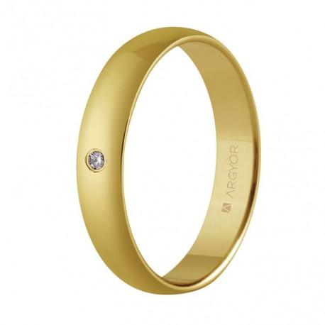 Verighete de aur de 18k cu diamante oro 4 mm 55401001
