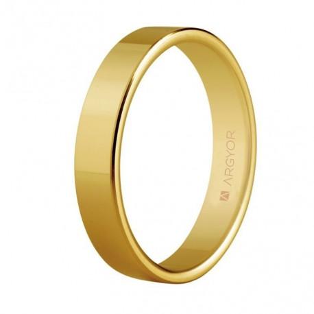 Verighete din aur clasica plana de 18k 4mm 5140150
