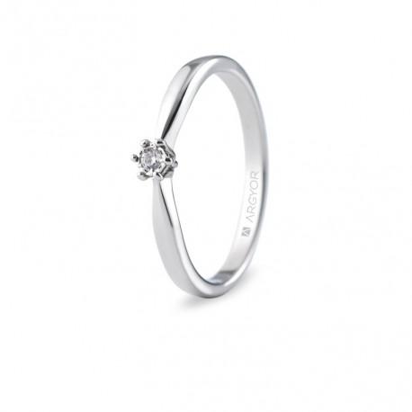 Inel de logodna aur alb cu 1 diamant 0.03ct 74B0511
