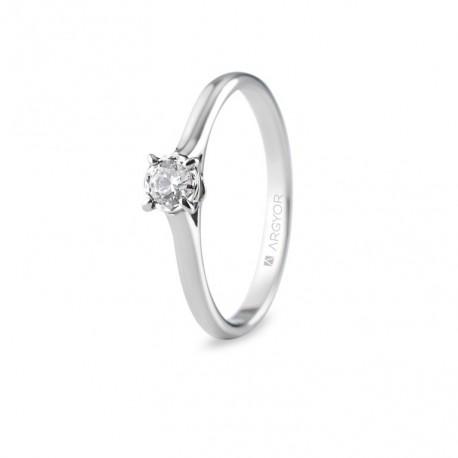 Inel de logodna cu 1 diamant 0.20ct 74B0505