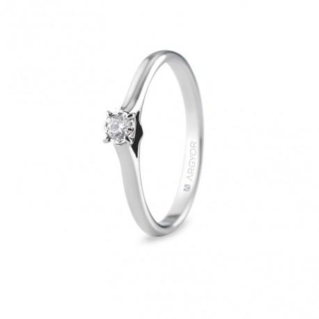 Inel de logodna cu 1 diamant 0.08 ct 74B0503