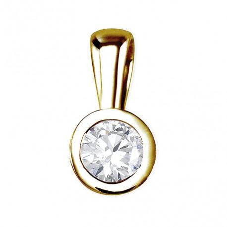 Pandantiv din aur cu diamant in chaton 75A0005