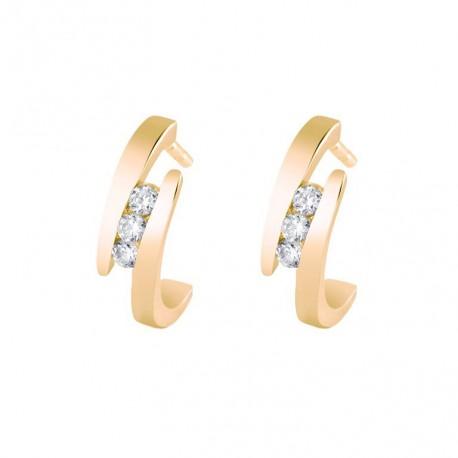 Cercei din aur 14k si diamante 75A0013