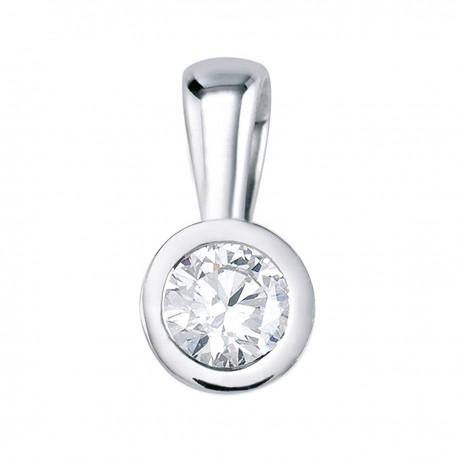 Pandantiv din aur cu diamant in chaton 75B0005