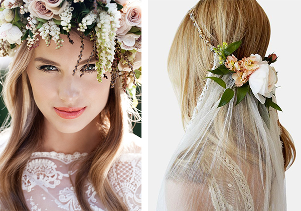 Coafuri-mirese,par cu flori.
