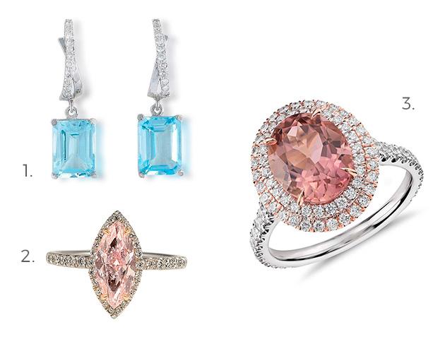 bijuterii -mireasa -roz si albastru