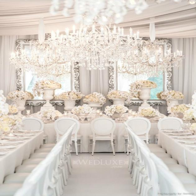 """decoratie sala de nunta Nunta in alb """"All wihte"""""""